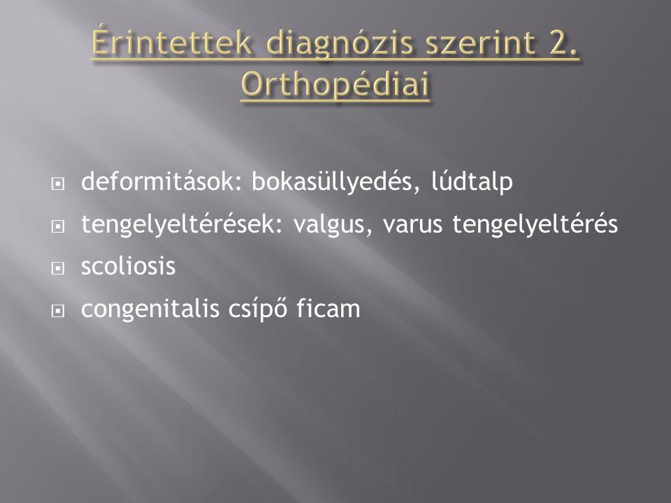 Érintettek diagnózis szerint 2. Orthopédiai