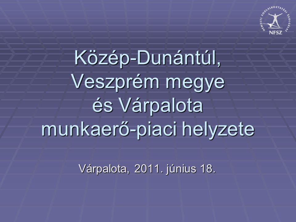 Közép-Dunántúl, Veszprém megye és Várpalota munkaerő-piaci helyzete