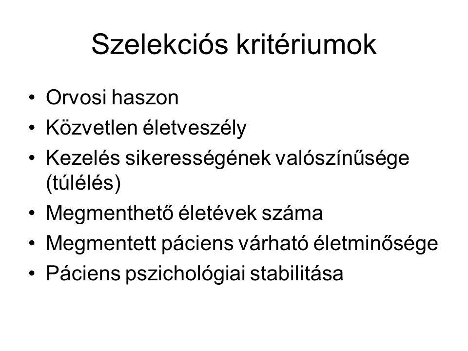 Szelekciós kritériumok