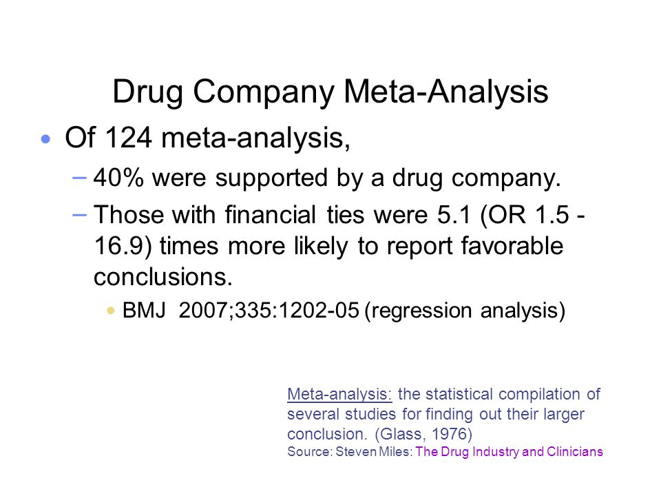 Drug Company Meta-Analysis