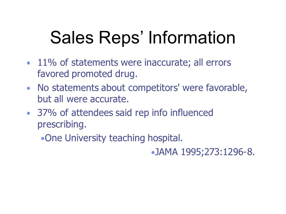 Sales Reps' Information