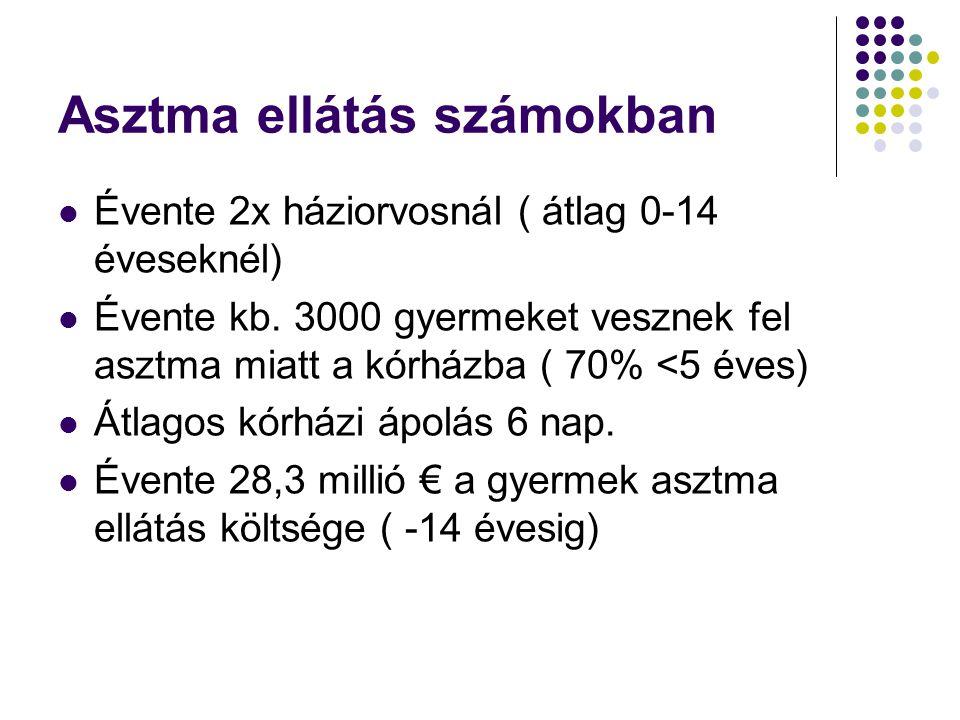 Asztma ellátás számokban