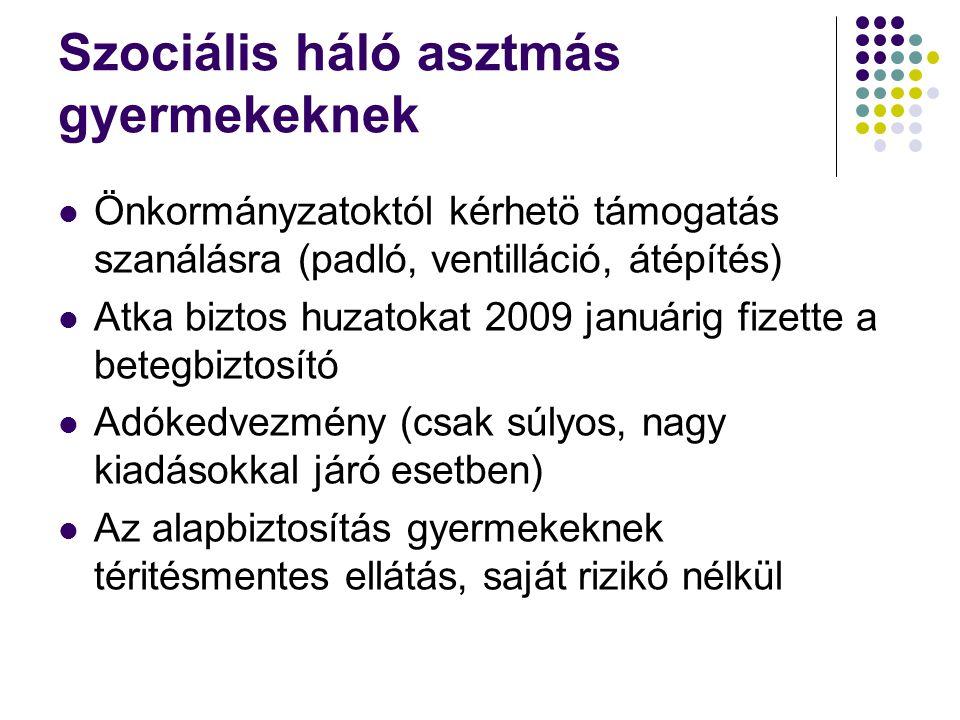 Szociális háló asztmás gyermekeknek