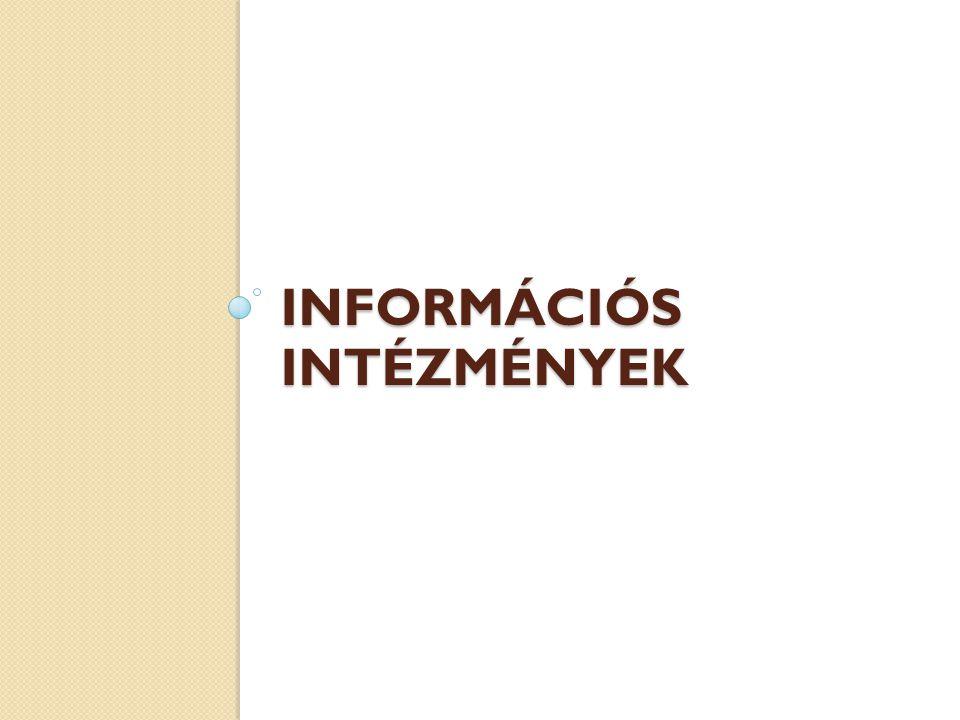 Információs intézmények