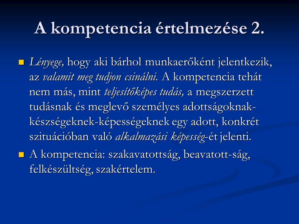 A kompetencia értelmezése 2.