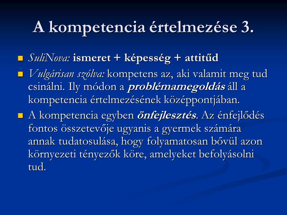 A kompetencia értelmezése 3.