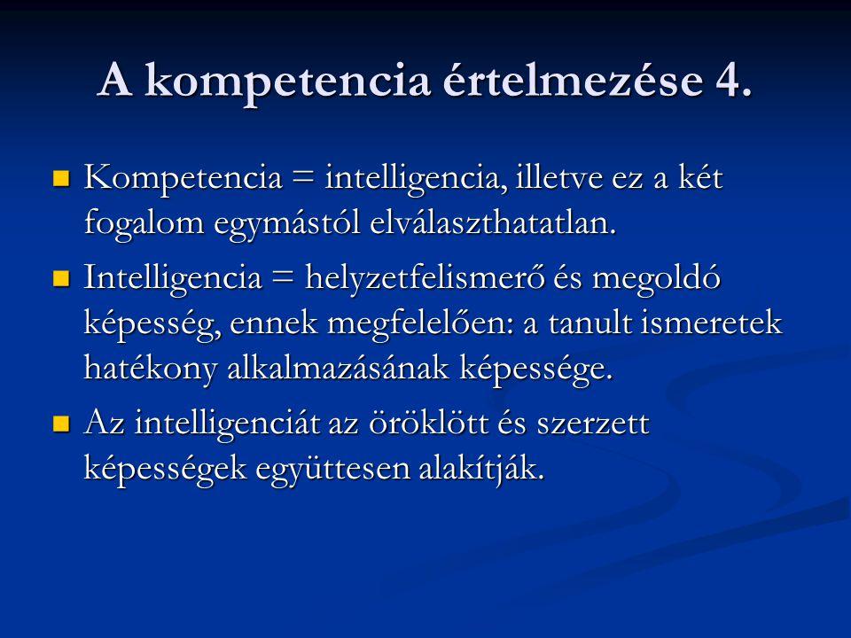 A kompetencia értelmezése 4.