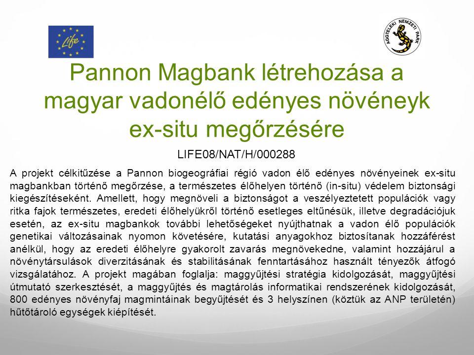 Pannon Magbank létrehozása a magyar vadonélő edényes növéneyk ex-situ megőrzésére