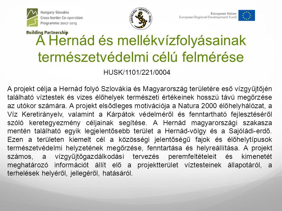 A Hernád és mellékvízfolyásainak természetvédelmi célú felmérése