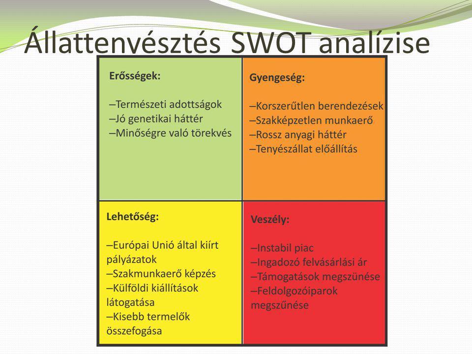Állattenyésztés SWOT analízise