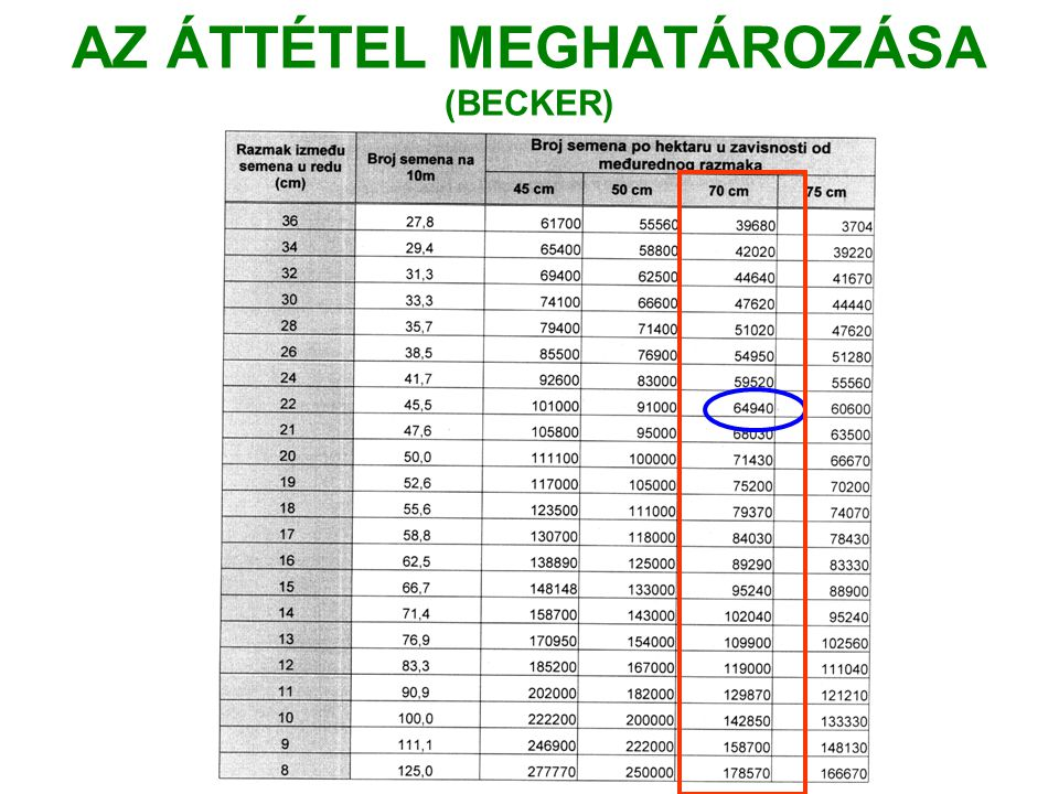AZ ÁTTÉTEL MEGHATÁROZÁSA (BECKER)