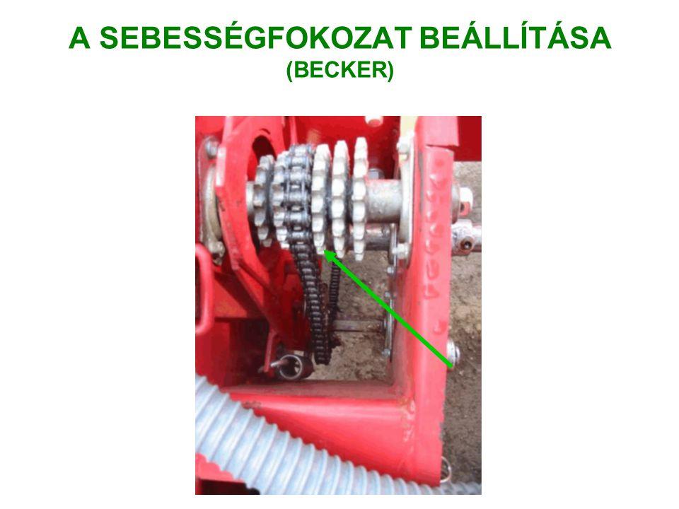 A SEBESSÉGFOKOZAT BEÁLLÍTÁSA (BECKER)