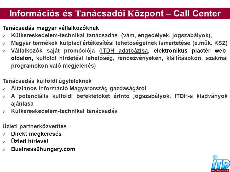 Információs és Tanácsadói Központ – Call Center