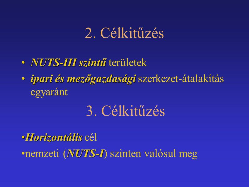 2. Célkitűzés 3. Célkitűzés NUTS-III szintű területek