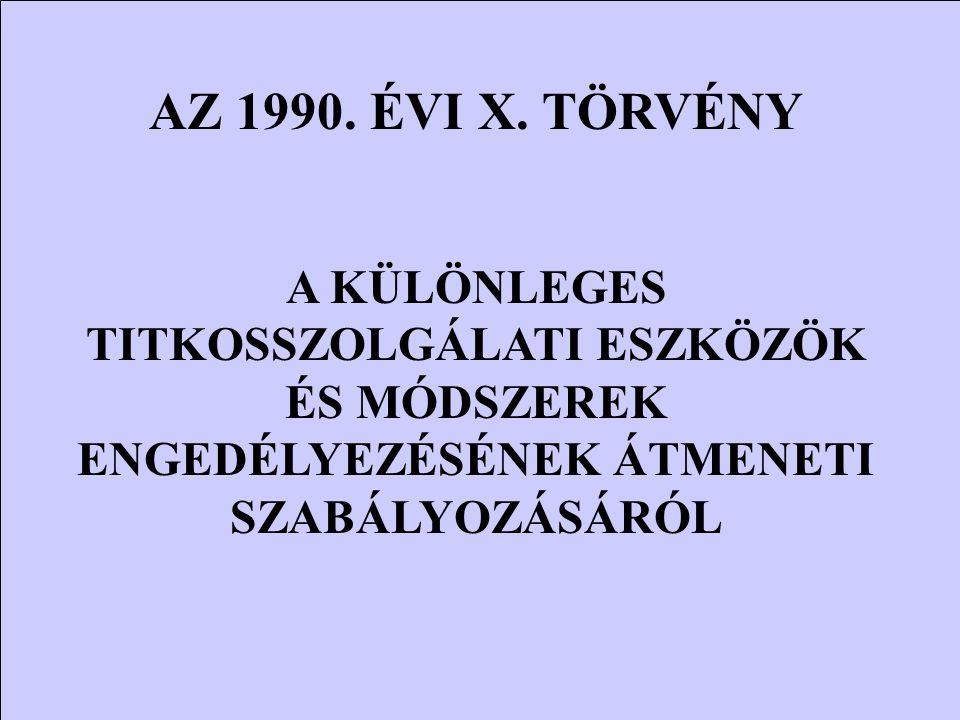 AZ 1990. ÉVI X.