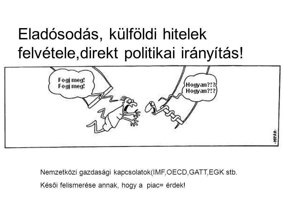 Eladósodás, külföldi hitelek felvétele,direkt politikai irányítás!
