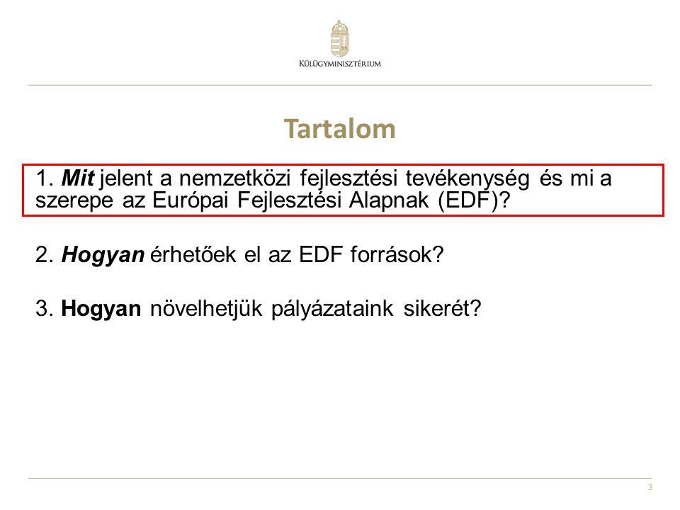 Tartalom Mit jelent a nemzetközi fejlesztési tevékenység és mi a szerepe az Európai Fejlesztési Alapnak (EDF)