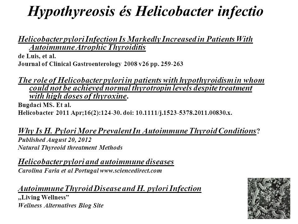 Hypothyreosis és Helicobacter infectio
