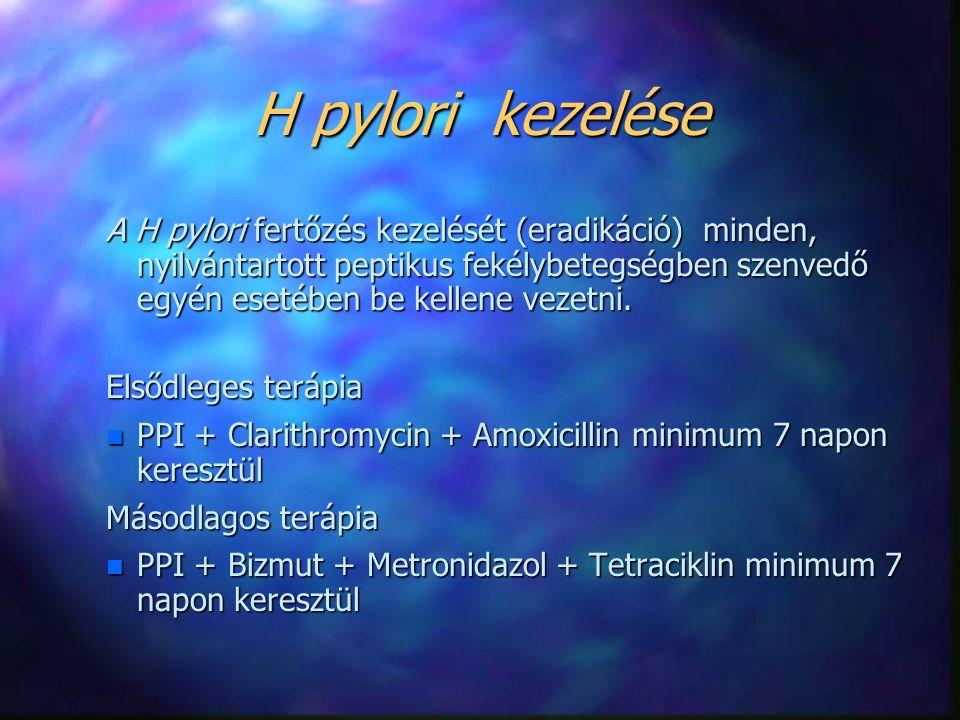 H pylori kezelése