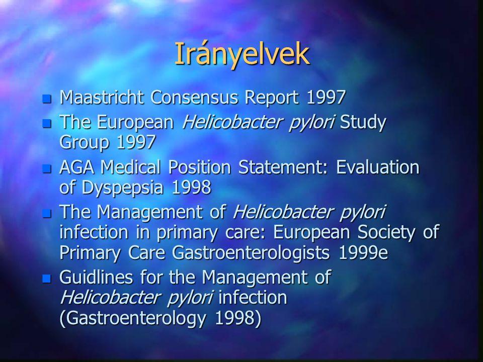 Irányelvek Maastricht Consensus Report 1997