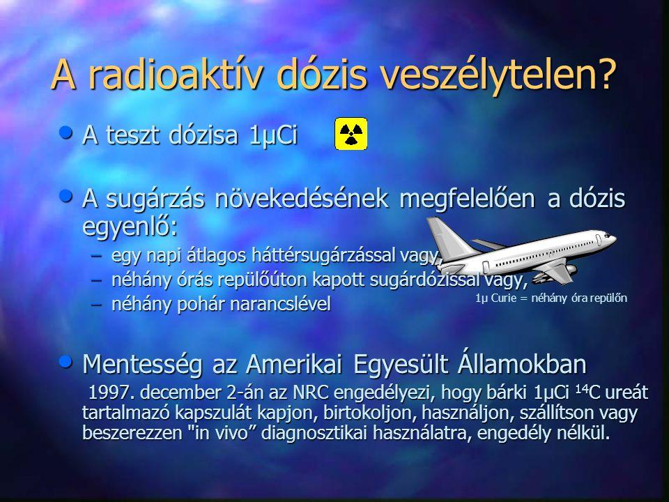 A radioaktív dózis veszélytelen