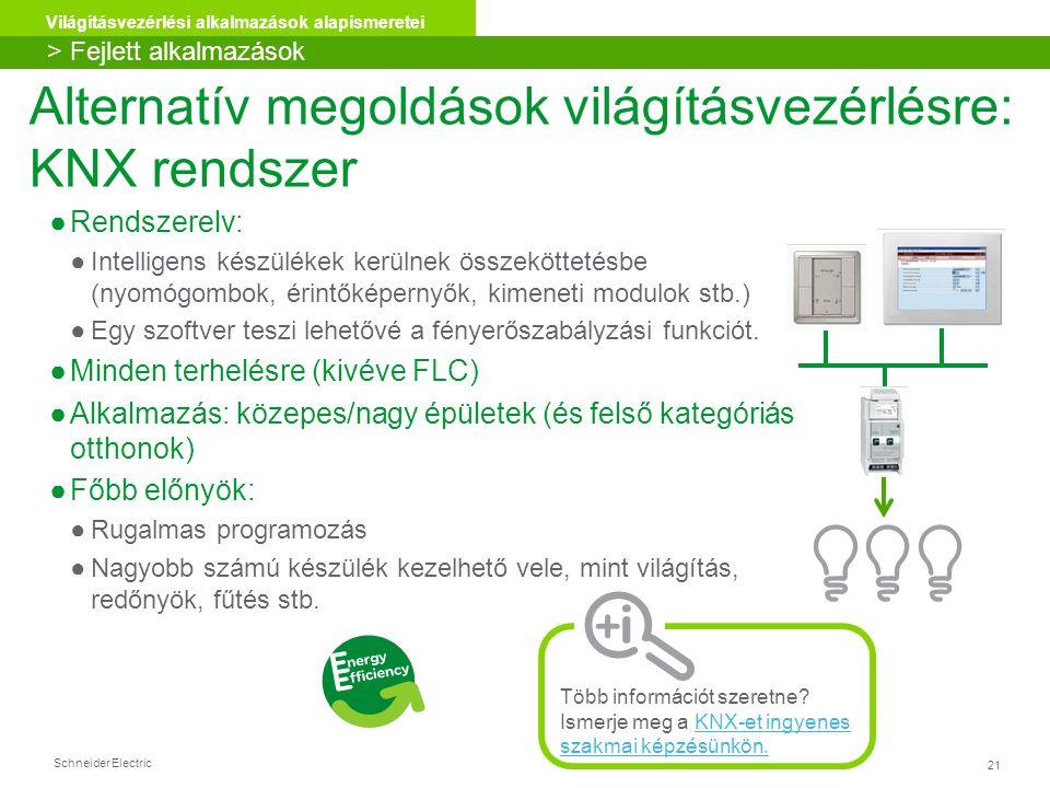 Alternatív megoldások világításvezérlésre: KNX rendszer