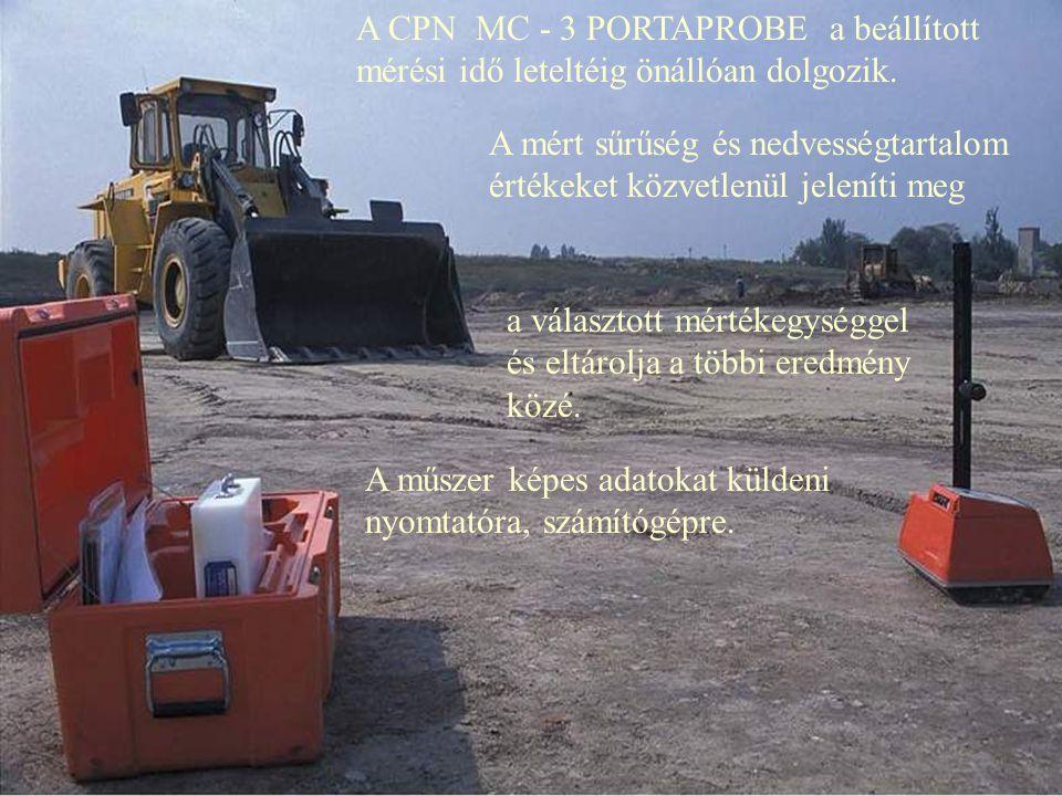 A CPN MC - 3 PORTAPROBE a beállított mérési idő leteltéig önállóan dolgozik.