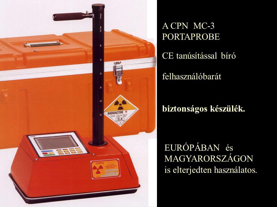 A CPN MC-3 PORTAPROBE CE tanúsítással bíró. felhasználóbarát.