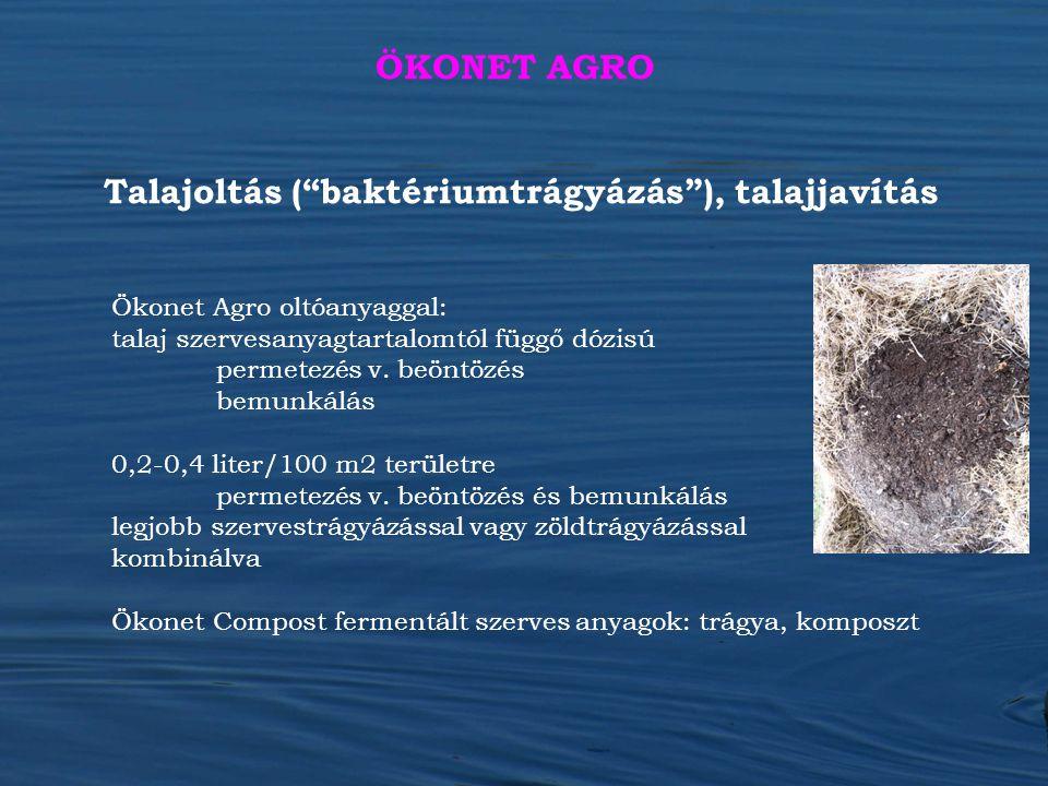 Talajoltás ( baktériumtrágyázás ), talajjavítás