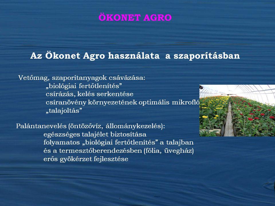 Az Ökonet Agro használata a szaporításban