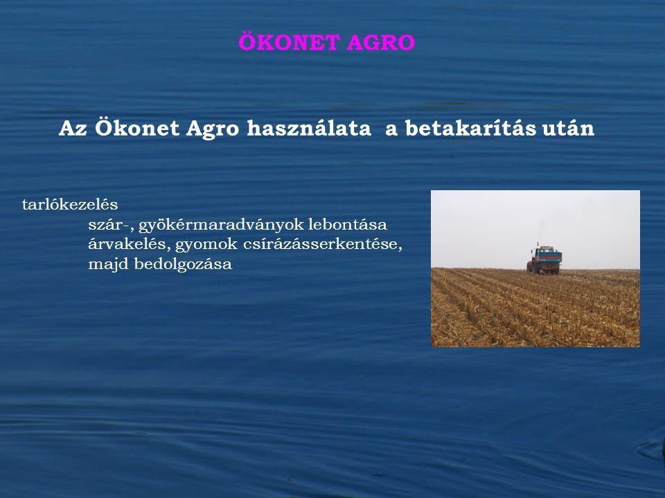 Az Ökonet Agro használata a betakarítás után