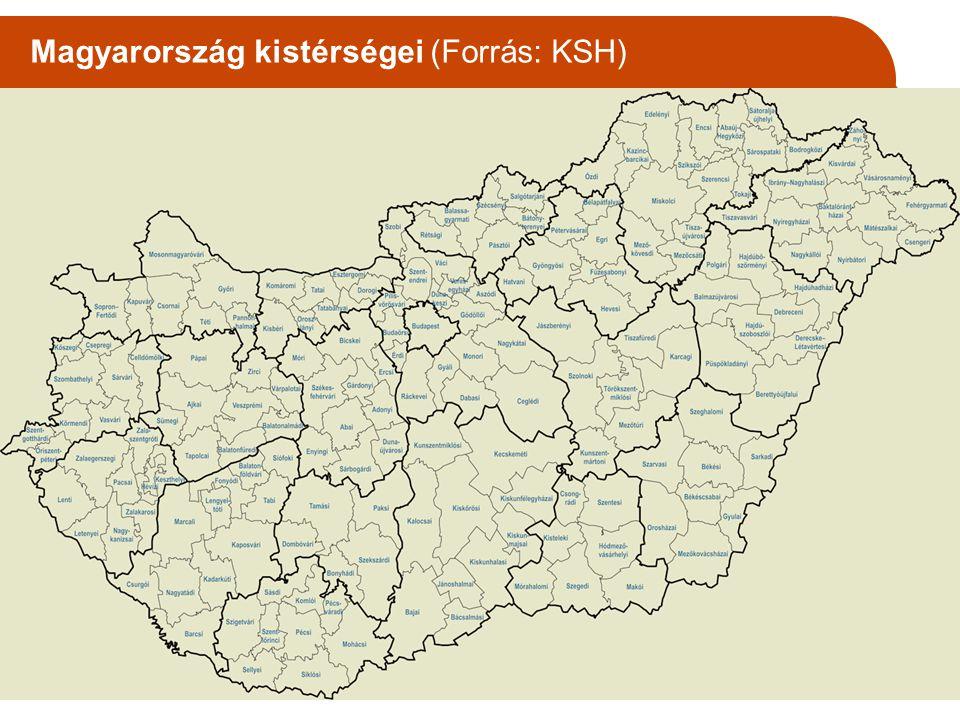 Magyarország kistérségei (Forrás: KSH)
