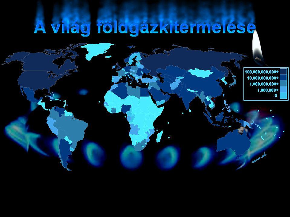 A világ földgázkitermelése