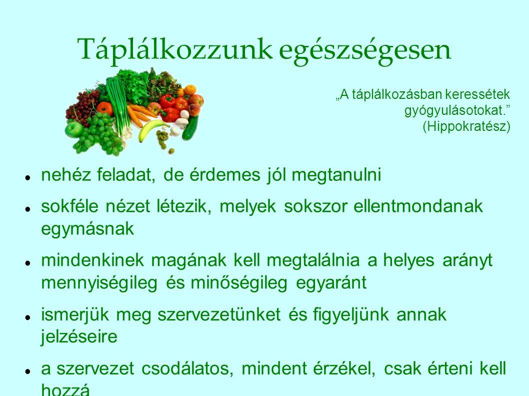 Táplálkozzunk egészségesen