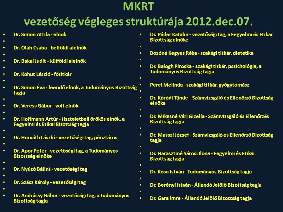 MKRT vezetőség végleges struktúrája 2012.dec.07.