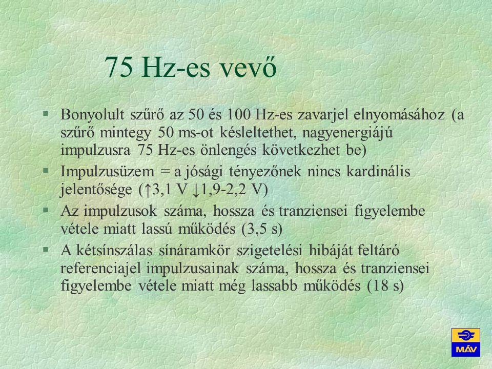 75 Hz-es vevő