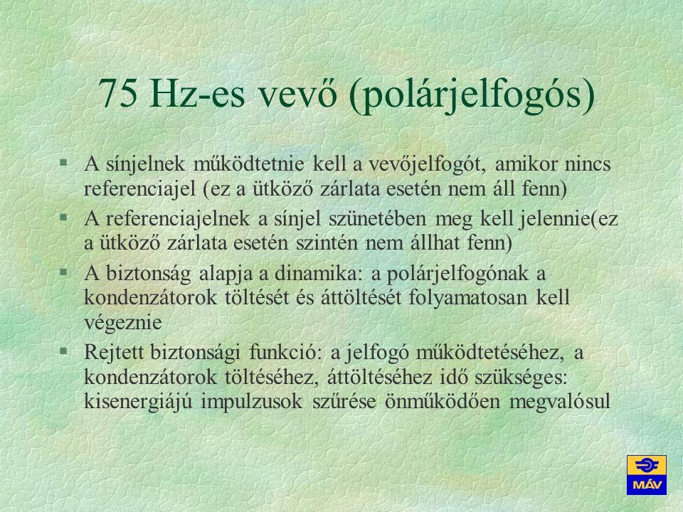 75 Hz-es vevő (polárjelfogós)