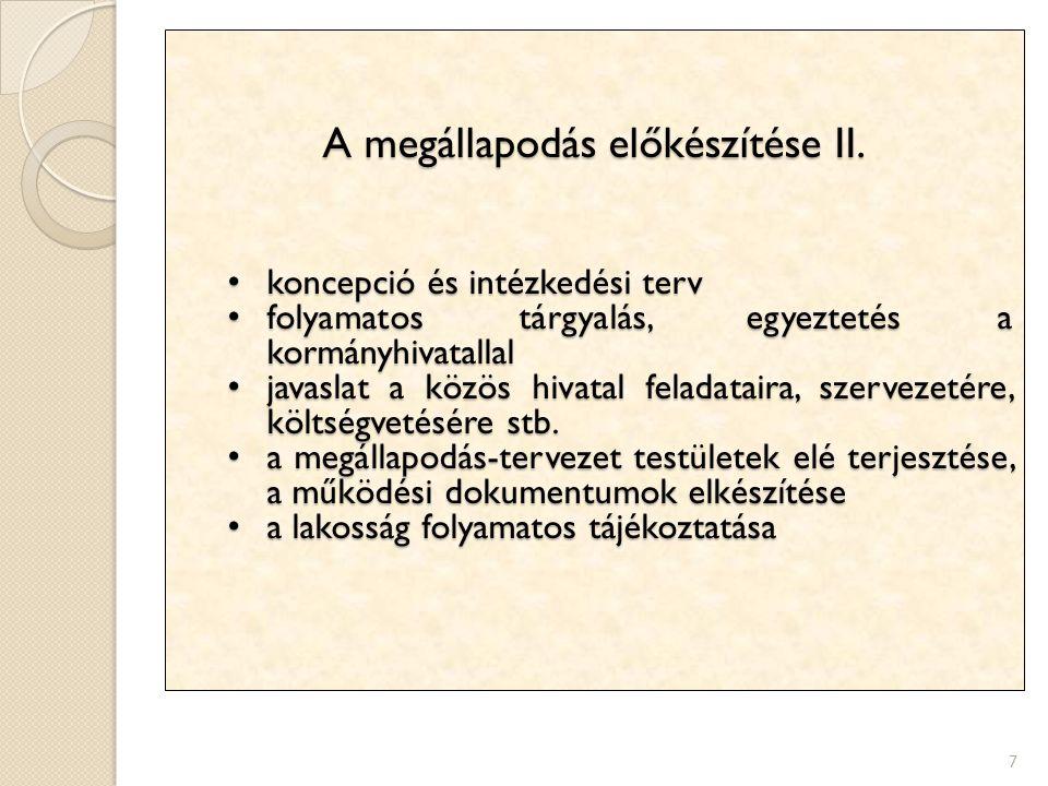 A megállapodás előkészítése II.