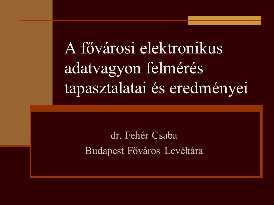dr. Fehér Csaba Budapest Főváros Levéltára