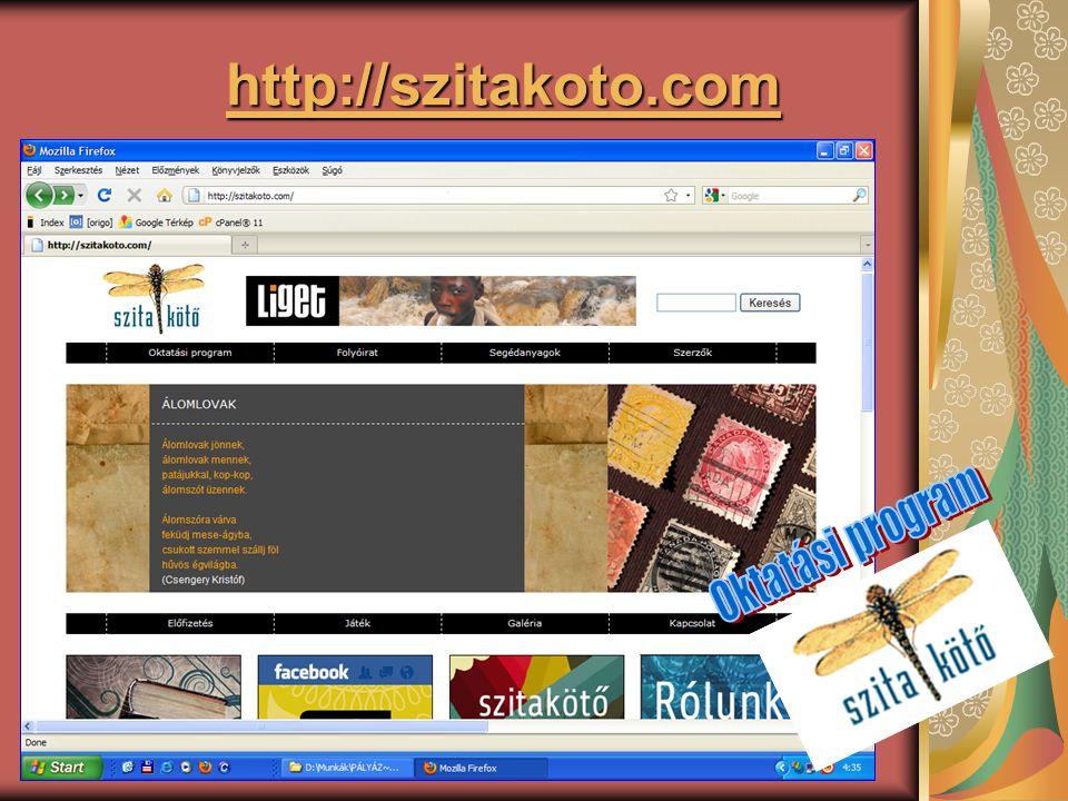 http://szitakoto.com Oktatási program