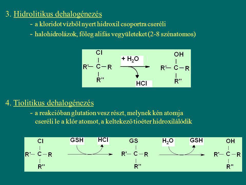 3. Hidrolitikus dehalogénezés