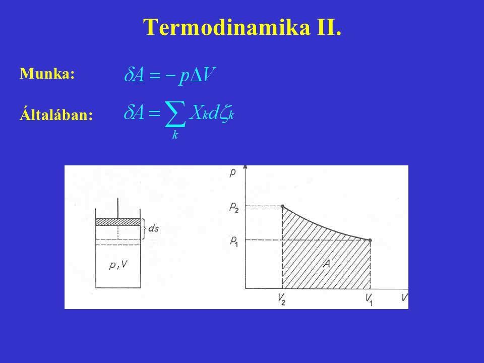 Termodinamika II. Munka: Általában: