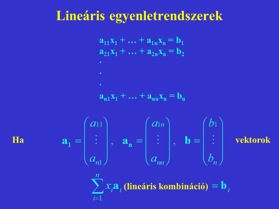 Lineáris egyenletrendszerek