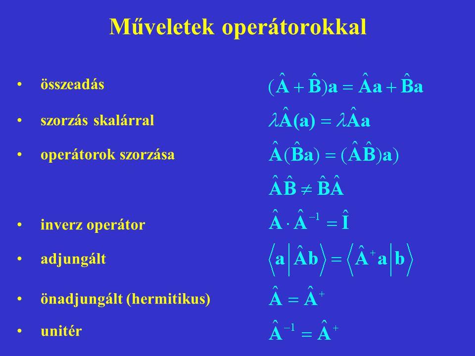 Műveletek operátorokkal