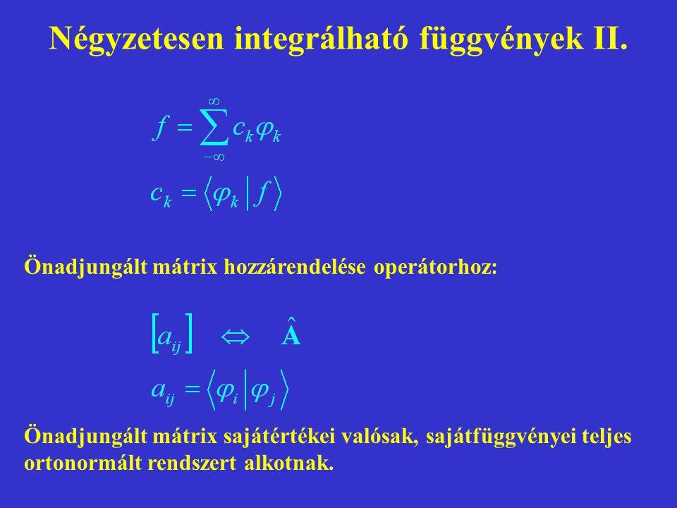 Négyzetesen integrálható függvények II.
