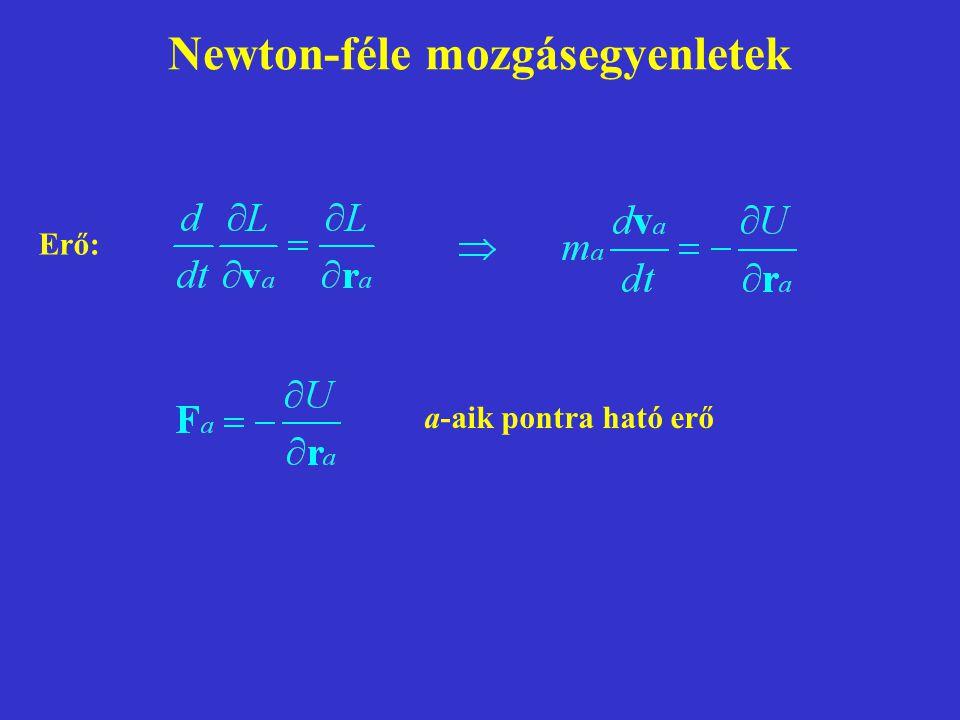 Newton-féle mozgásegyenletek
