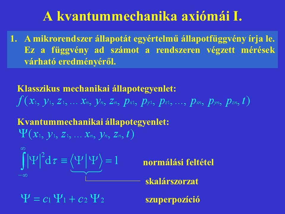A kvantummechanika axiómái I.