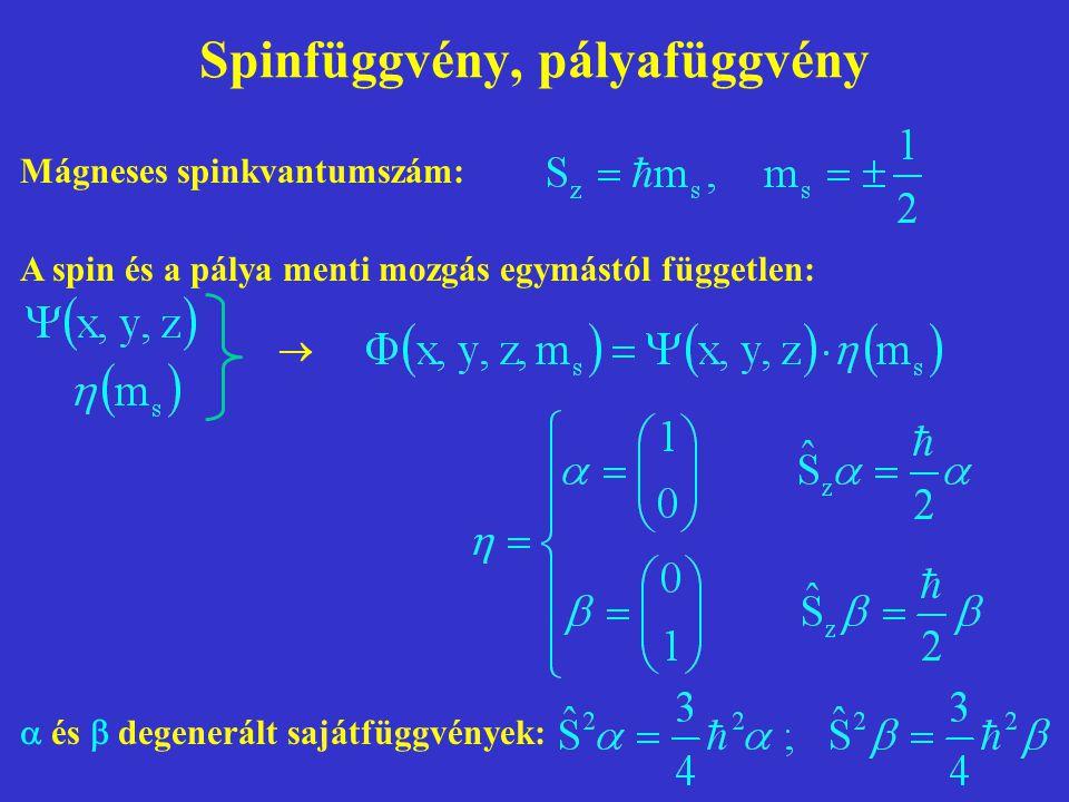 Spinfüggvény, pályafüggvény