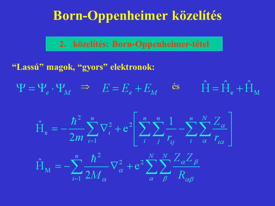 Born-Oppenheimer közelítés