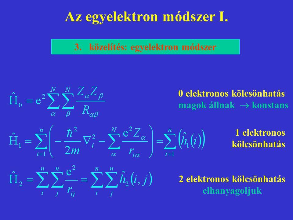 Az egyelektron módszer I.